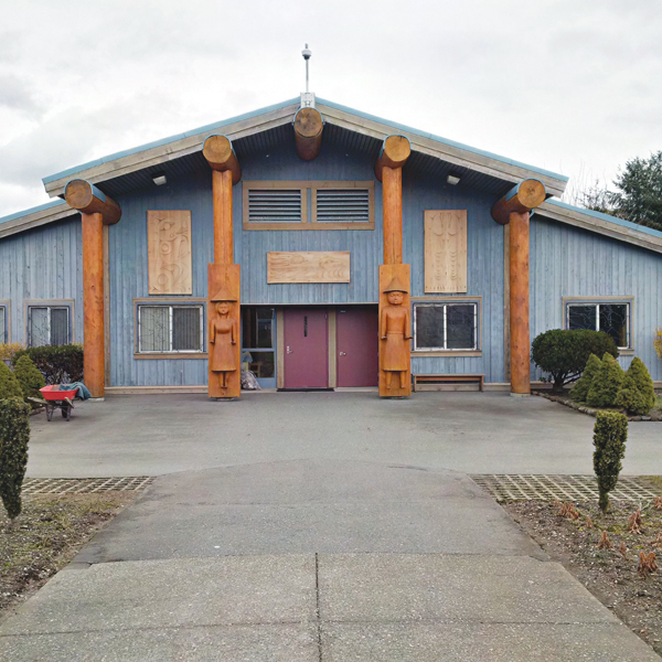 Photo of the Huli Tun (or Healing Lodge) at Pacific Institution.