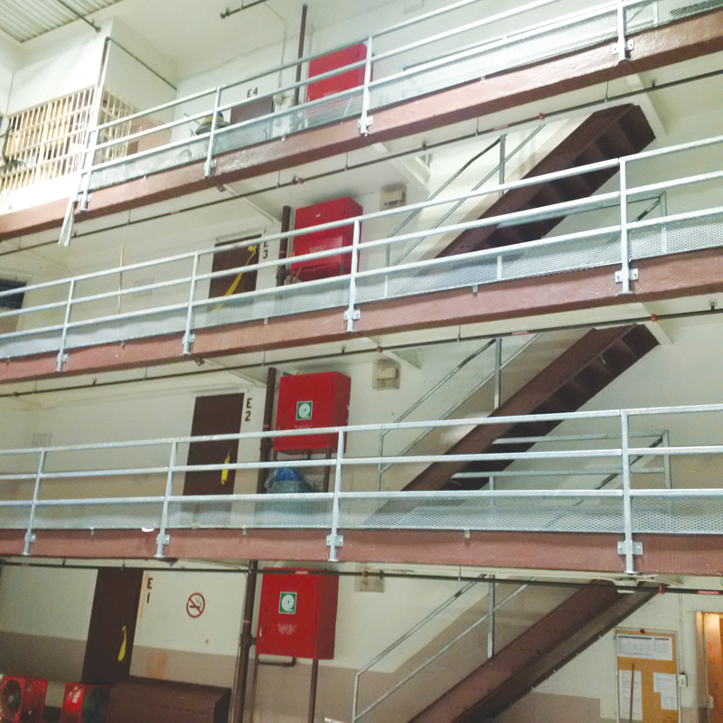 Interior of Saskatchewan Penitentiary.  Description follows.