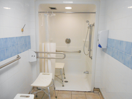 Photo of an Accessible shower