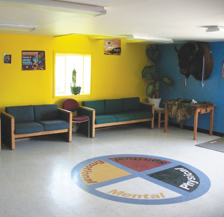 Photo of an Indigenous programs room