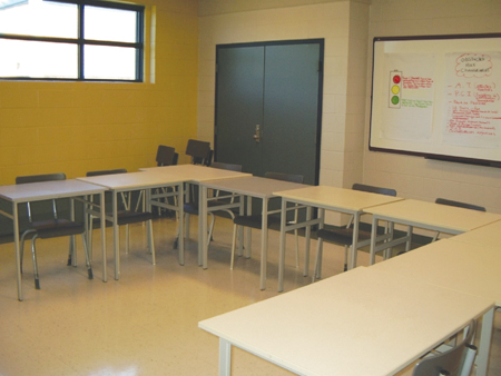 Photo of an Institutional classroom