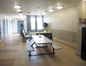 Photo of a Secure unit common area