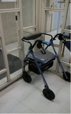This is a picture of an inmate's walker.