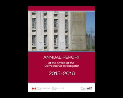 Annual Report of the Office of the Correctional Investigator 2015-2016