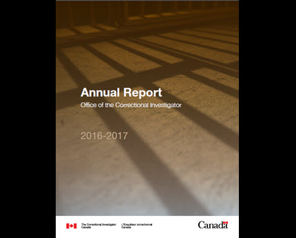 Annual Report of the Office of the Correctional Investigator 2016-2017